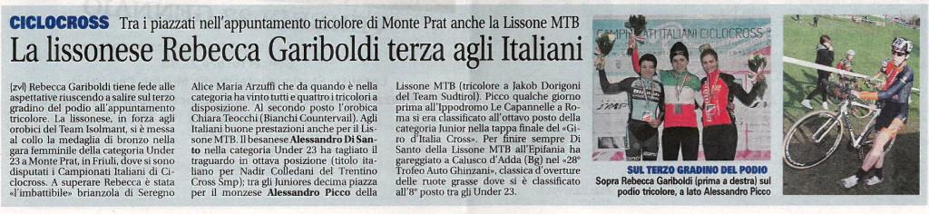 2016.01.12 Giornale di Monza (Cross)