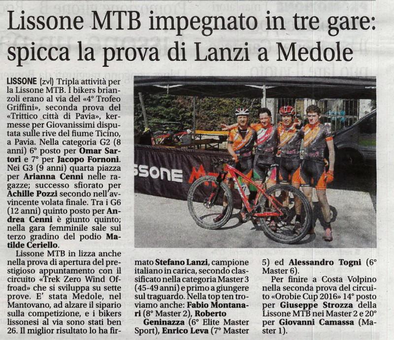 2016.03.29 Giornale di Monza (Trek Zerowind)