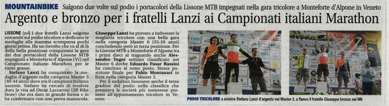 2016.05.31 Giornale di Monza (Campionato italiano marathon)