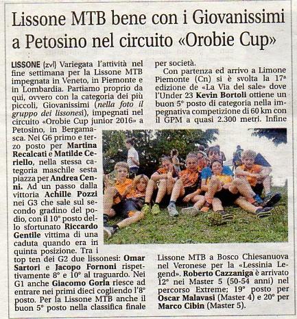 2016.06.28 Giornale di Monza (Giovanissimi)