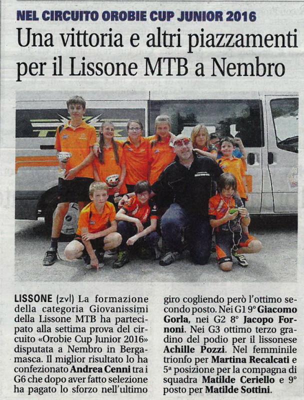 2016.0621 Giornale di Monza (Giovanissimi)