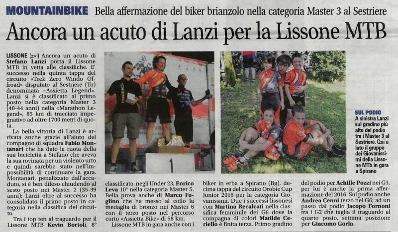 2016.07.12 Giornale di Monza (Assietta,Giovanissimi)