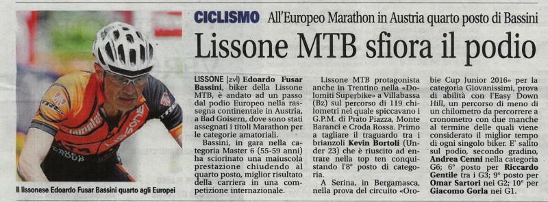 2016.07.19 Giornale di Monza (Europei MX)