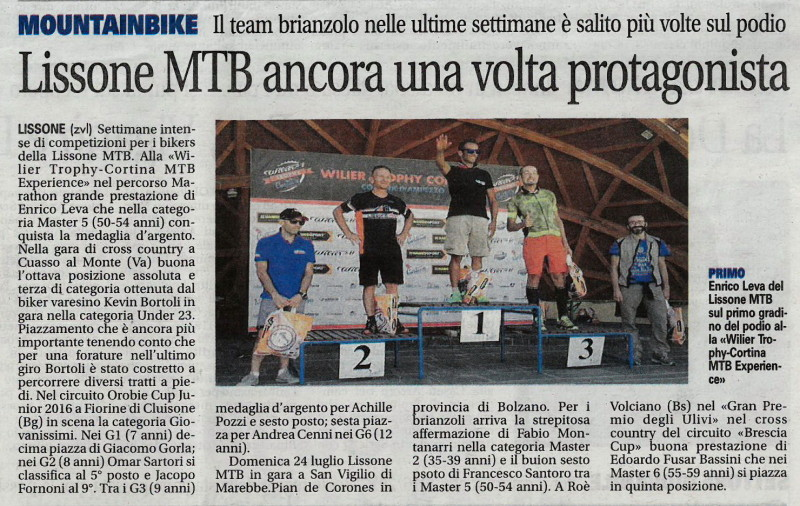2016.07.26 Giornale di Monza (Cortina,Giovanissimi)