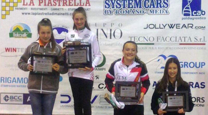 2017.01.15 Bosisio Parini (Podio finale Trofeo Piemonte Lombardia donne Esordienti 1°anno)