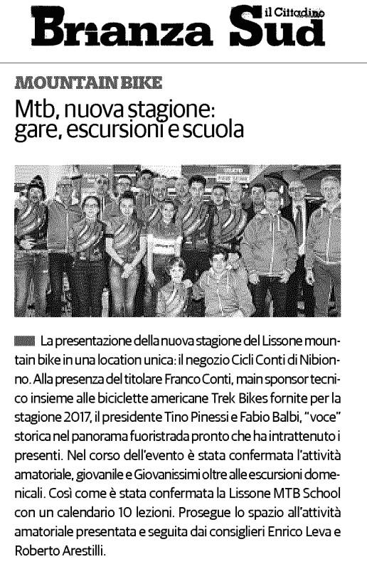 2015.02.25 Il Cittadino (Presentazione 2017)