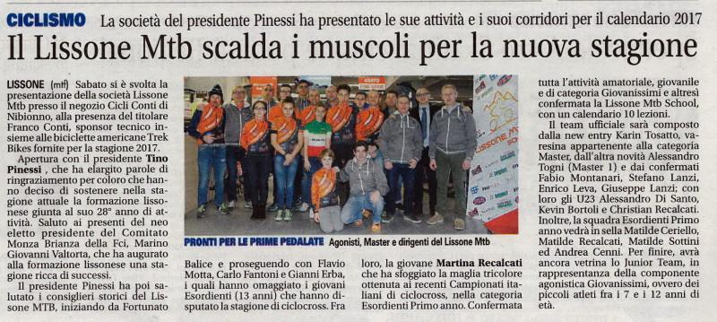 2017.02.21 Giornale di Monza (Presentazione 2017)
