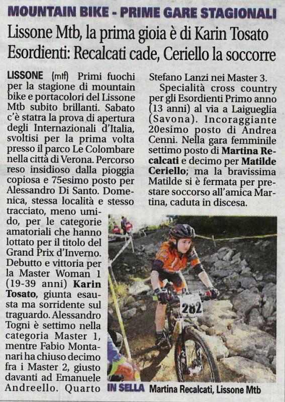 2017.03.07 Giornale di Monza (giovanile)