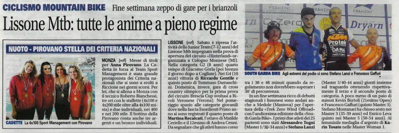 2017.03.21 Giornale di Monza (Giovanile,Trek Zerowind)