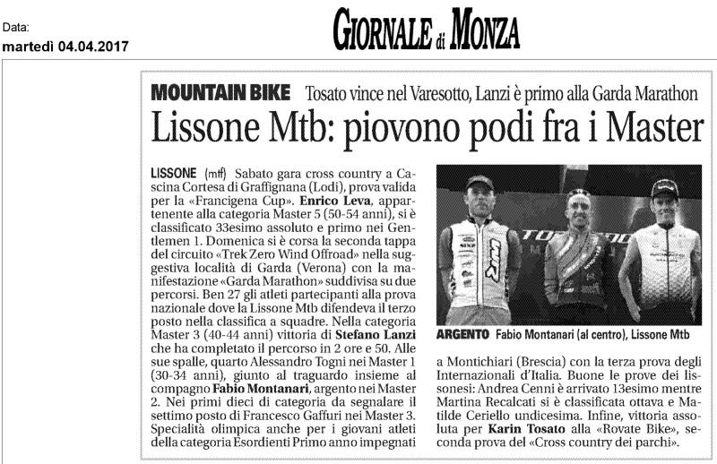 2017.04.04 Giornale di Monza (Trek Zerowind)