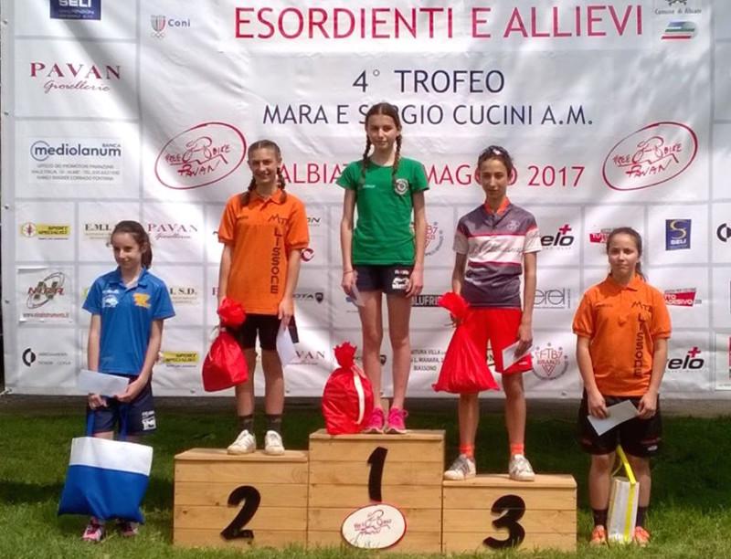 2017.05.14 Albiate (podio Esordienti donne 1°anno)