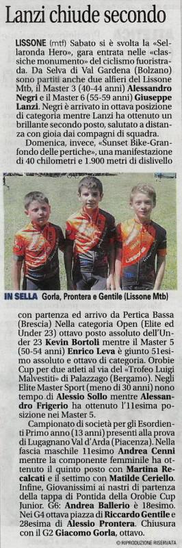 2017.06.18 Giornale di Monza (Giovanissimi)