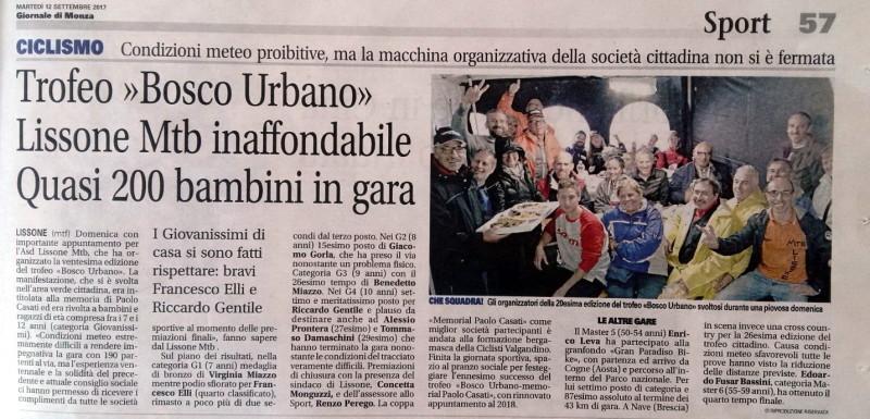 2017.09.12 Giornale di Monza (Trofeo Bosco Urbano)