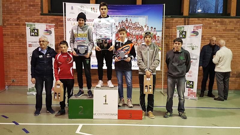 2018.01.14 Bosisio Parini (podio Esordienti-Cenni 5°)