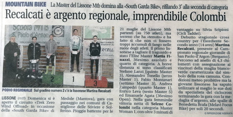2018.03.13 Giornale Monza (Regionale XC)