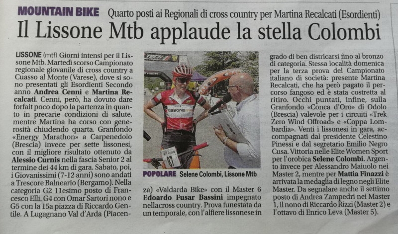 2018.05.08 Giornale di Monza (Conca d'Oro)