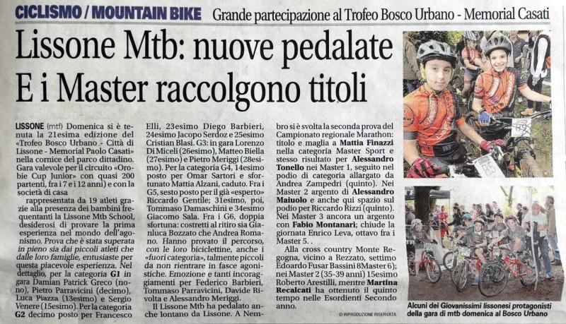 2018.05.22 Giornale di Monza (Trofeo Bosco Urbano)