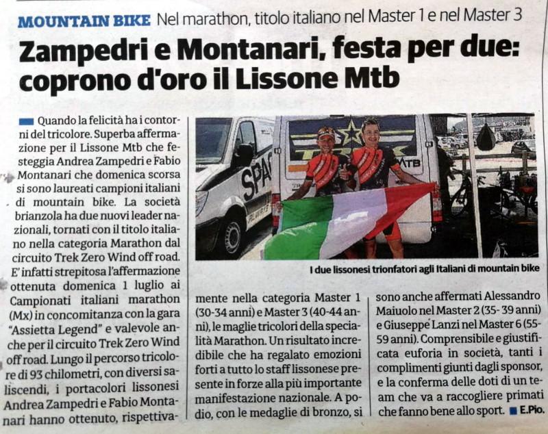 2018.07.07 Il Cittadino (tricolori Marathon)