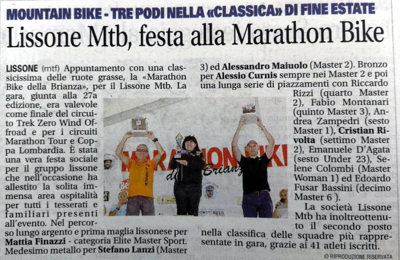 2018.09.04 Giornale di Monza (Marathon Bike)
