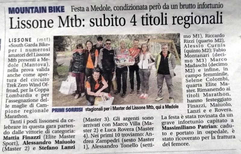 2019.03.12 Giornale di Monza (Sout Garda Bike)